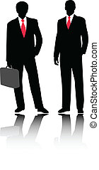 Businessmen illustration - vector