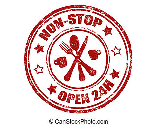 non stop stamp - grunge rubber stamp with word non stop and...