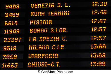 Timetable train timetable, Italy - Timetable train timetable...