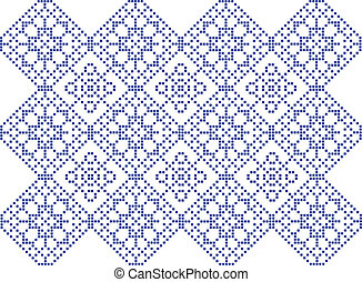 Pattern to crochet - vector