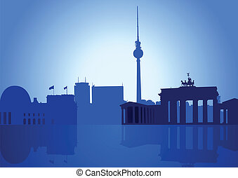 Berlin - Silhouette illustration of Berlin skyline