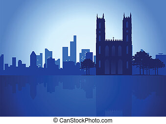 Montreal - An illustration of Montreal Canada skyline
