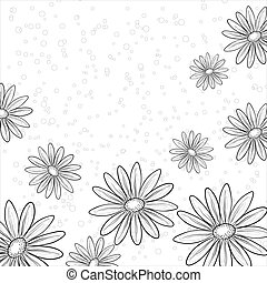 Flower background, contours