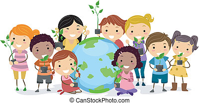 Cultural Diversity - Illustration of Kids Representing...