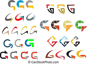Alphabet letter - Set of alphabet symbols and elements of...
