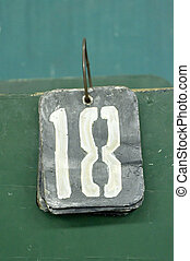 number tags plate for badminton games scores