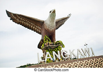 Langkawi Eagle - Statue of an eagle, the symbol of Langkawi,...