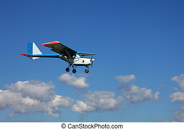 single-engined aircraft in air