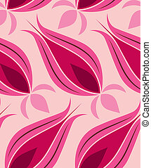 Ottoman Tulip Seamsless Pattern - Vector background seamless...