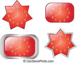 Clocks collection - vector