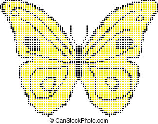 Yellow butterfly - vector