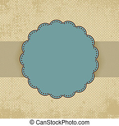 Vintage polka dot card template EPS 8 vector file included