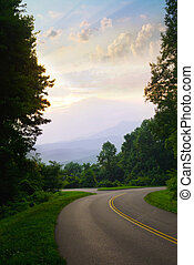 Smoky Mountains - View from the road in the Great Smoky...
