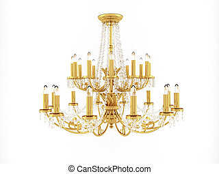 classical chandelier isolated on a white background