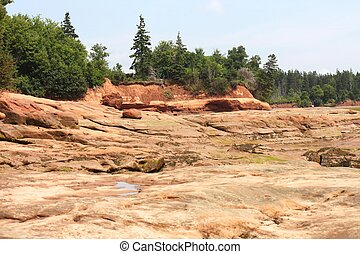Rocks at Thomass Cove at low tide,Economy Nova Scotia,Canada...