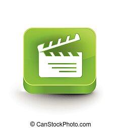clapper board web icon