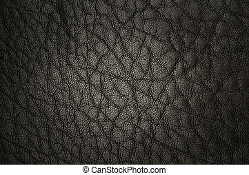 luxurious leather - background closeup of luxurious black...