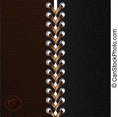 black-brown lace - beige lacing between black and brown...