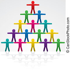 teamwork - vector illustration of teamwork