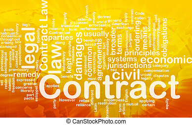 Contract background concept - Background concept wordcloud...