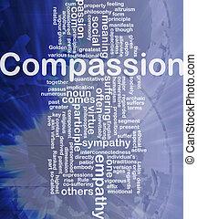 compasión, Plano de fondo, concepto