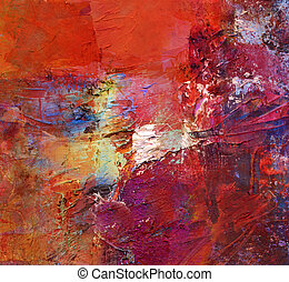 acrylic and oil paints - abstract art - acrylics and oils...