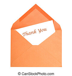 Thank You Card - An isolated thank you card that has been...