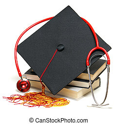 Healthcare Graduate - An isolated stethoscope and...
