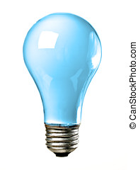 Blue Light bulb - Blue common screw base tungsten light bulb...