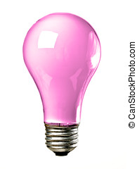 Pink Light bulb - Pink common screw base tungsten light bulb...
