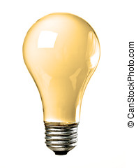 Orange Light Bulb - Orange common screw base tungsten light...