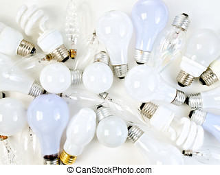 Lightbulbs Abstract Still Life - Abstract display of...