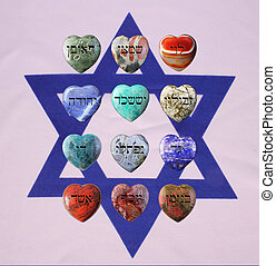 Flag with gemstones - Flag of Israel with precious stones