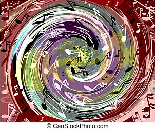 tidal wave of music - abstract of a tidal wave of music