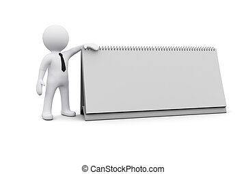 3D man and blank board