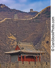 House at the Chinese wall - The great wall of China