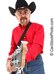Handsome Elderly Country Musician