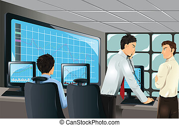 Stock traders - A vector illustration of stock traders...