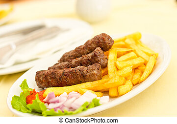 Cevapcici with chips