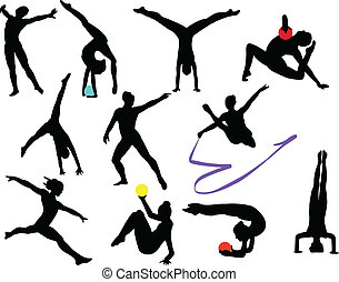 gymnastics silhouette - collection of gymnastics silhouette...