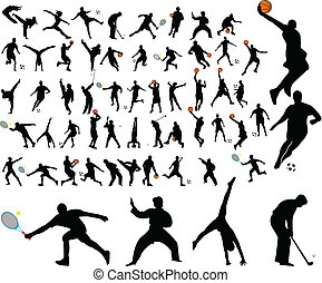 high quality sportsmen - 58 high quality sportsmen - vector