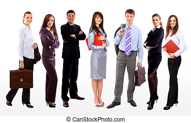 Business people and team Isolated over white background