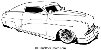 49 Custom Lead Sled - Black Line Illustration