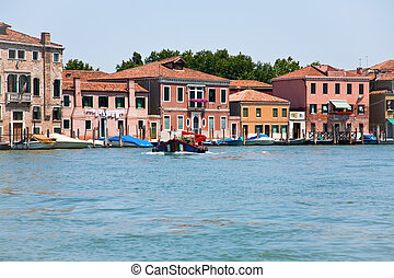 view on Venice from Venetian Lagoon, Italy