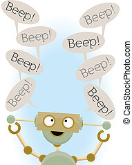 Insane Cute Robot Saying Beep - Mental adorable cartoon...
