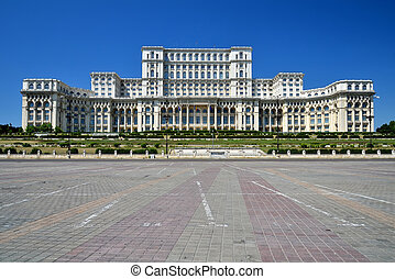 Palace of the Parliament, Bucharest, Romania - The Palace of...