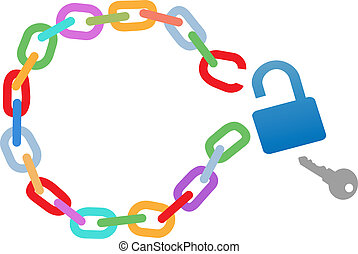 Breakout unlock broken circle chain escape - Key to a...