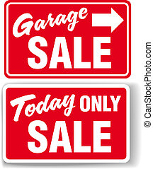 Garage arrow Today ONLY SALE sign - Garage arrow Today ONLY...