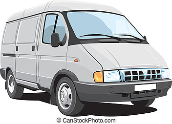Delivery van - Vector isolated delivery van, without...