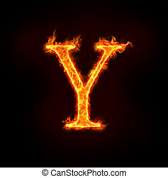fire alphabets, Y